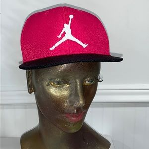 Hat air Jordan pink black girls youth adjustable